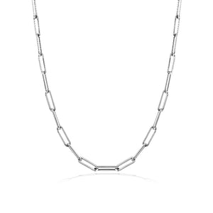 White Gold 10mm Chain Necklace