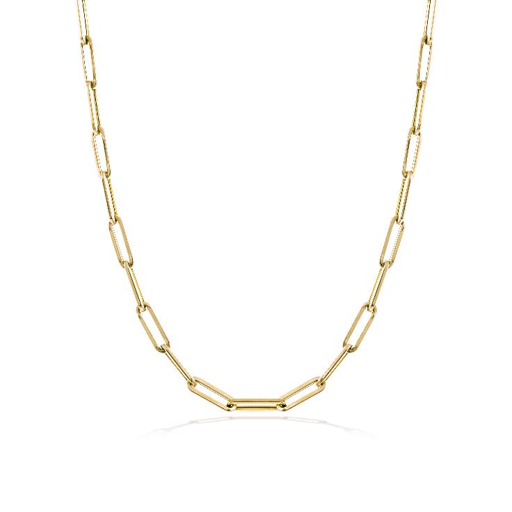 Yellow Gold 10mm Chain Necklace
