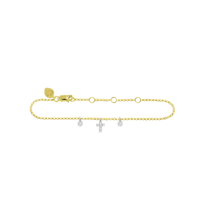 Cross 14k gold Anklet