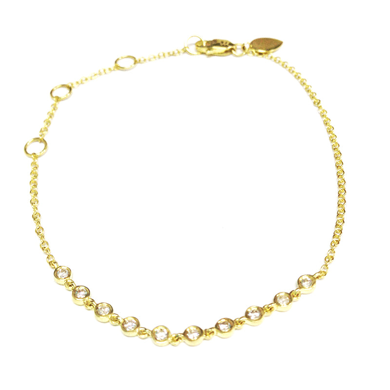Diamond Gold Bezel Bracelet