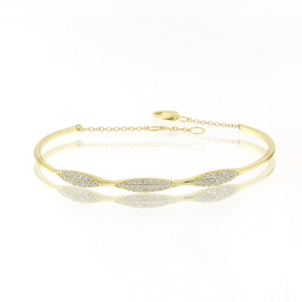 Gold Diamond Cuff