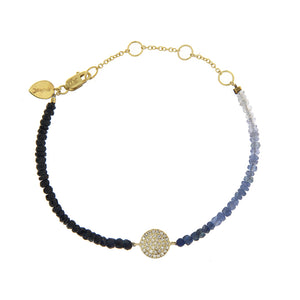 Yellow Gold Diamond Disc Bracelet