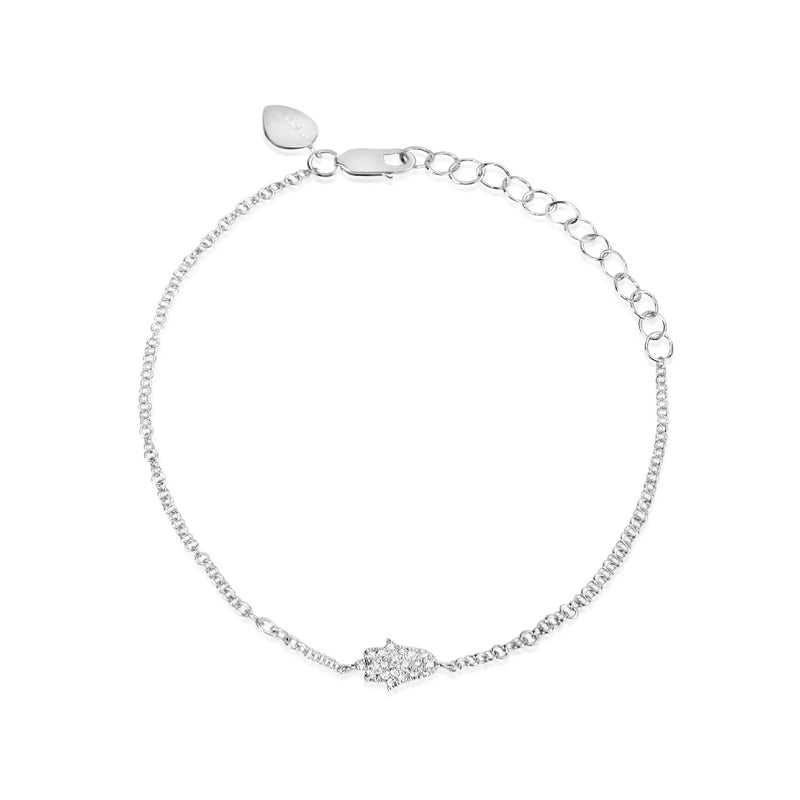 White Gold And Diamond Hamsa Bracelet