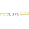 Diamond Love Paperclip Chain Bracelet