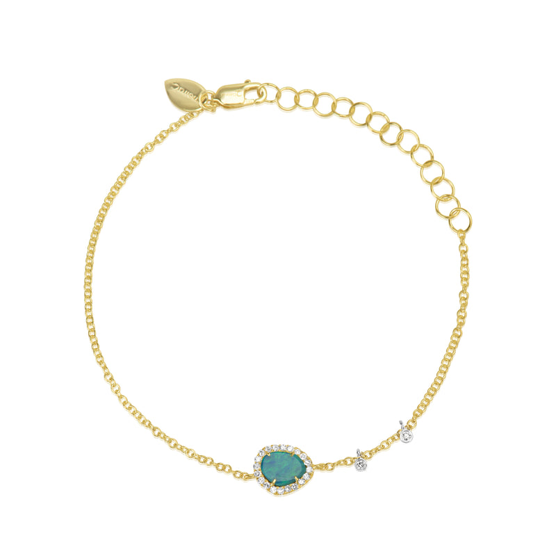 Yellow Gold Signature Opal Bracelet