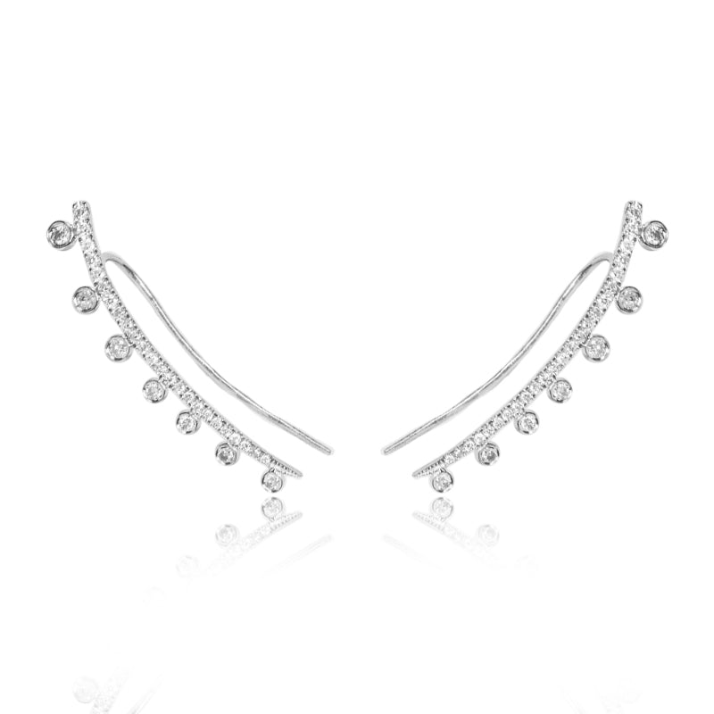 White Gold Diamond Ear Climber