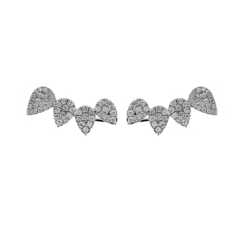 White Gold Diamond Ear Climbers