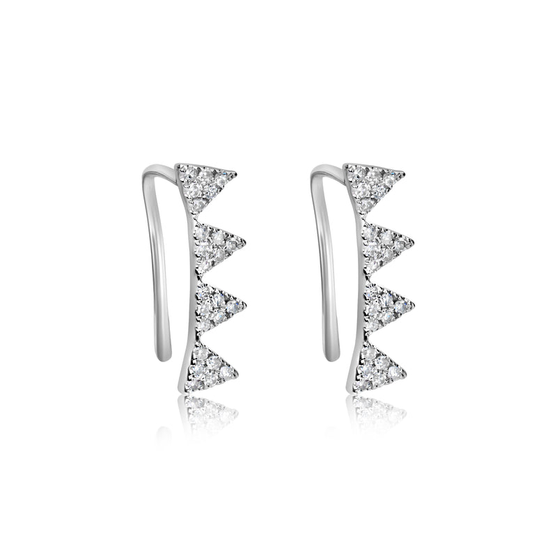 White Gold Ear Climbers