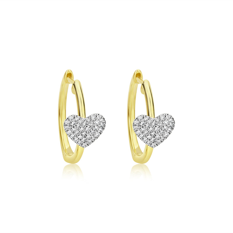 Diamond Heart Hoops