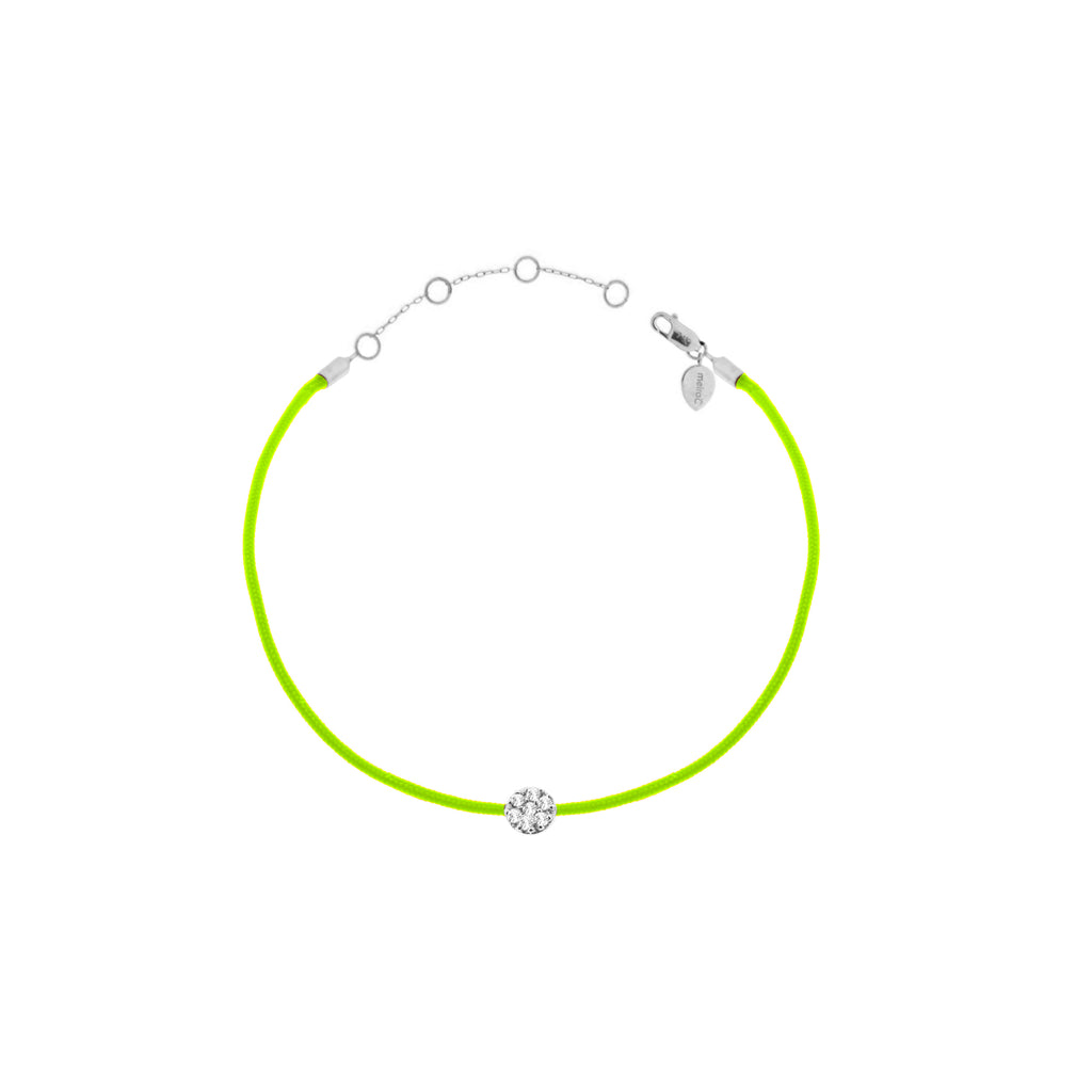 Diamond Disc Neon String Bracelet