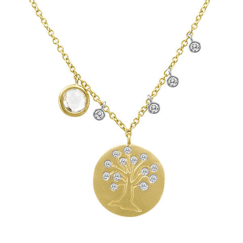 Tree of Life Necklace with Diamond Bezels