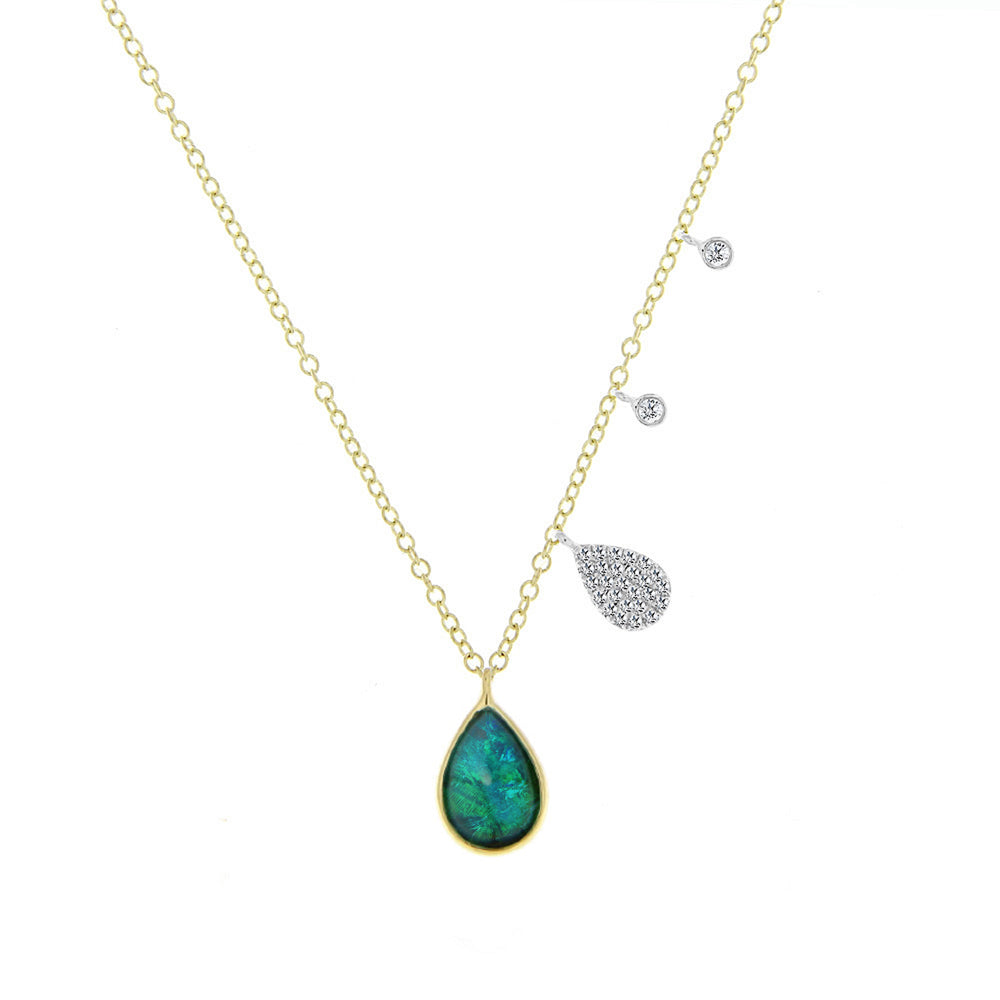Australian Opal Charm Necklace