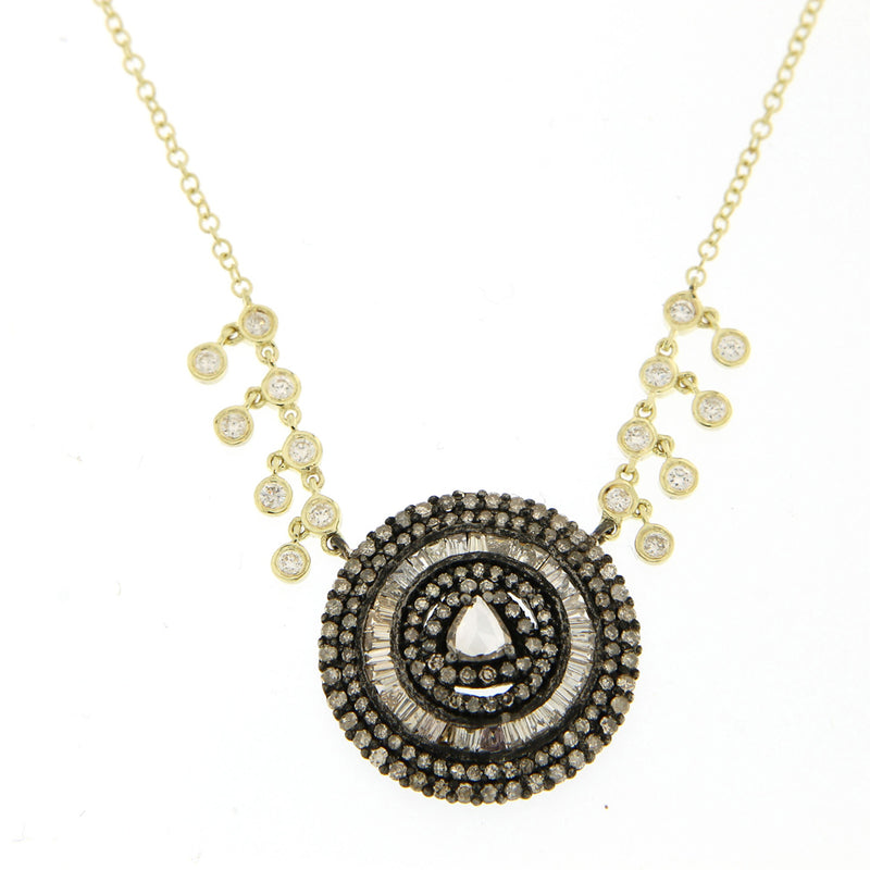 Champagne Diamond Mandala Necklace