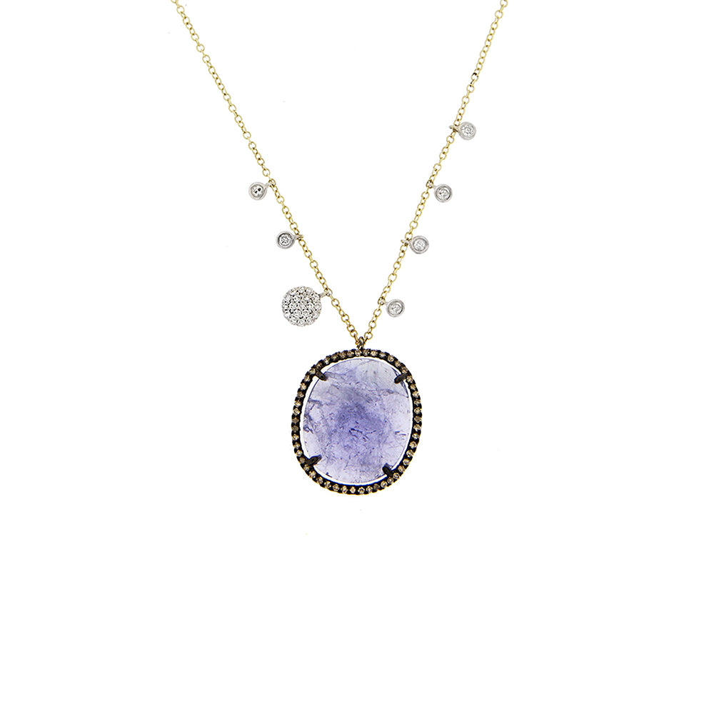 Tanzanite Charm Necklace