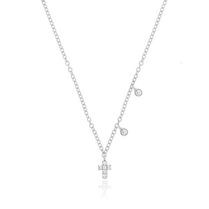 Dainty Cross Diamond Necklace