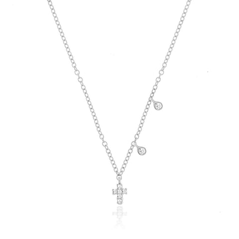 White Meira T Signature Disc Necklace