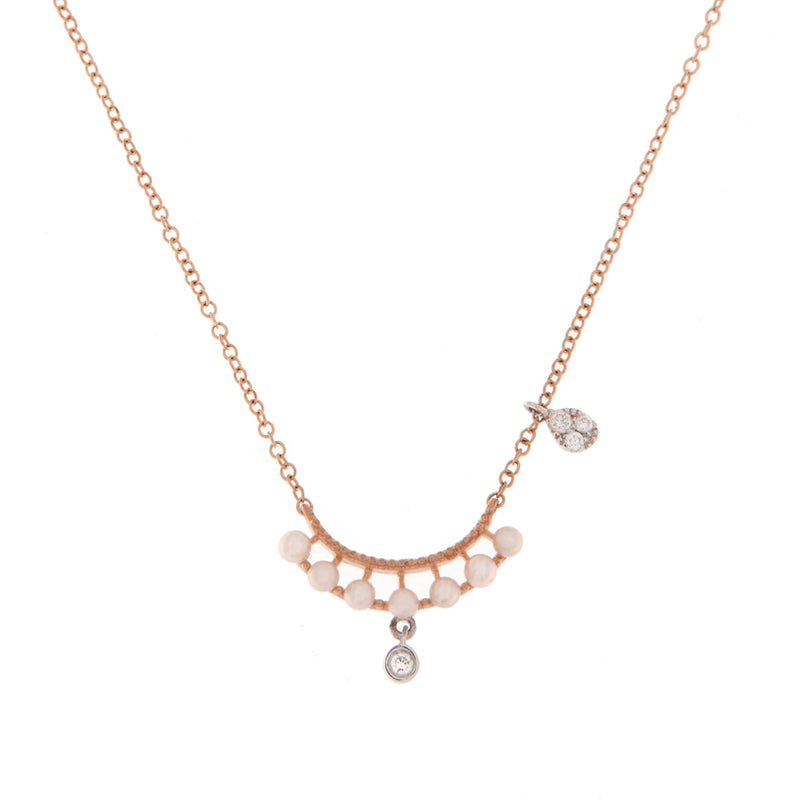 Rose Gold and Pearl Necklace