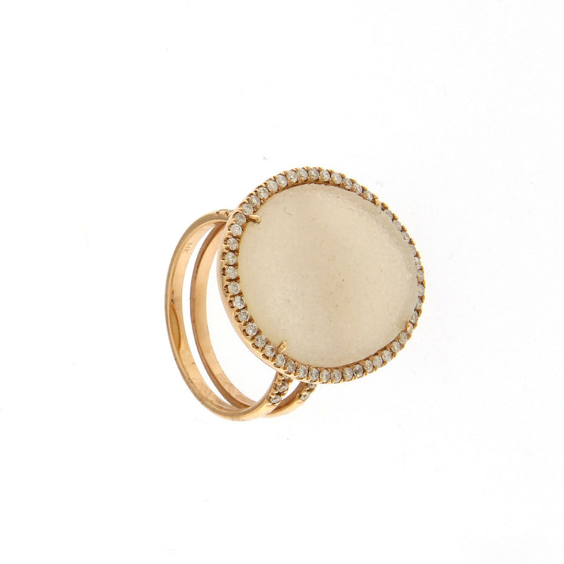 Druzy Rose Gold Ring