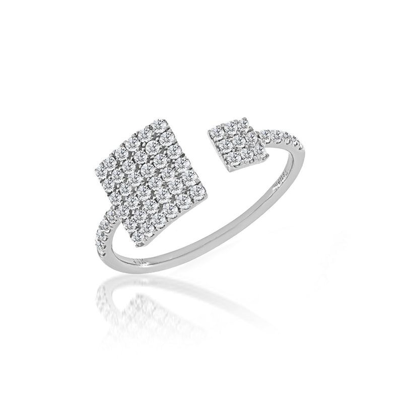 Diamond Double Square Diamond Ring