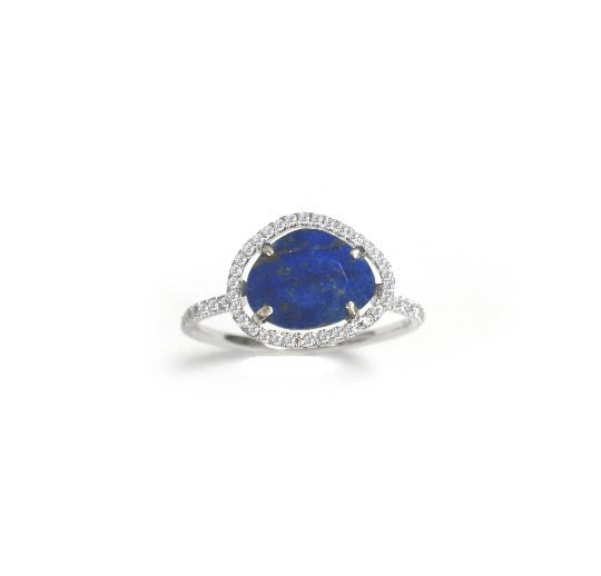 Blue Lapis Diamond Ring