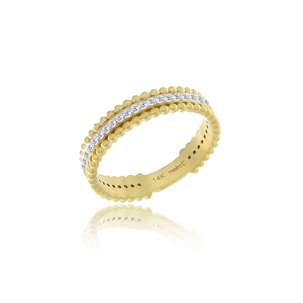 yellow gold and diamonds band