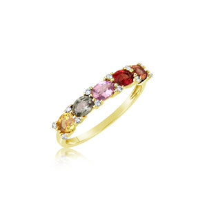 Yellow Gold Multicolor Ring