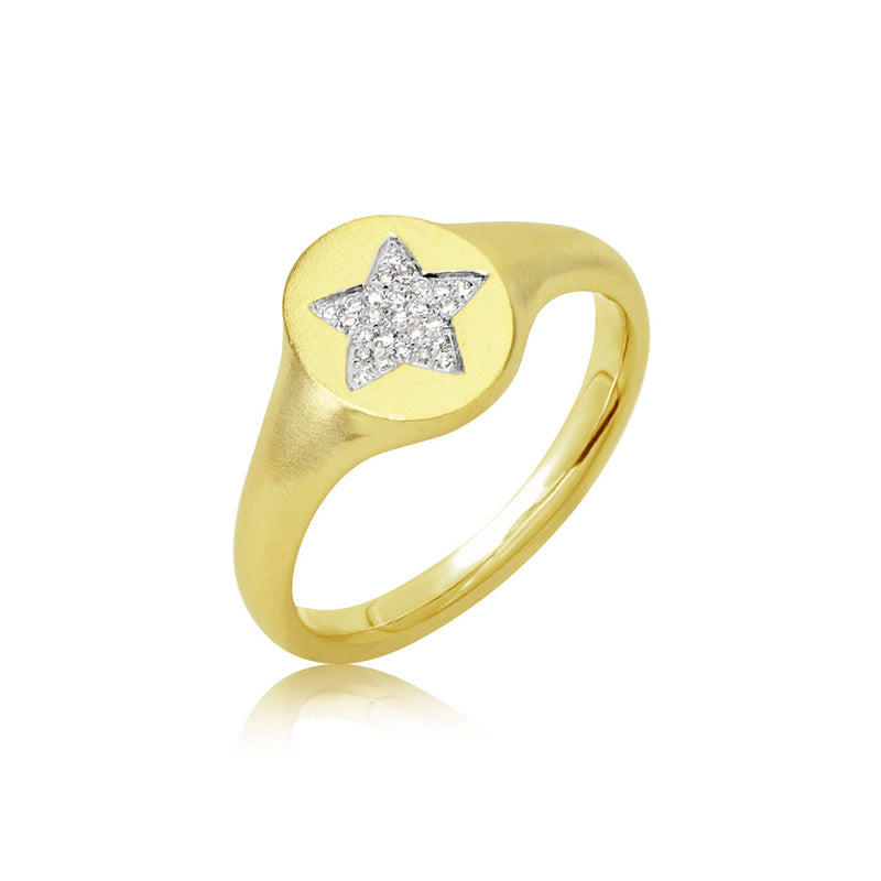 Star Signet Diamond Ring
