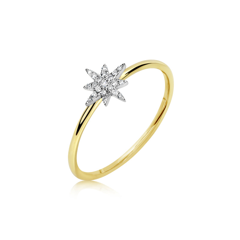 Diamond Starburst Ring