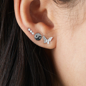 White Gold Butterfly Diamond stud