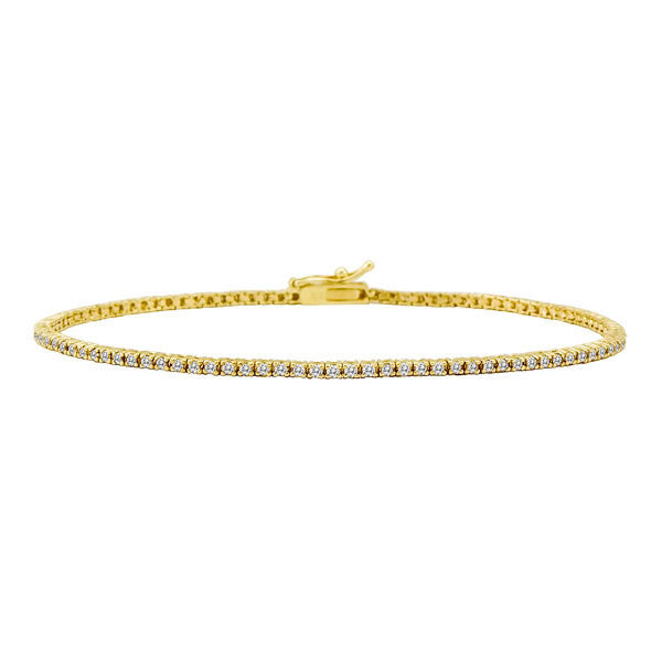 diamond gold tennis bracelet