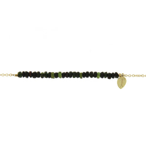 Green Tourmaline Bead Bracelet