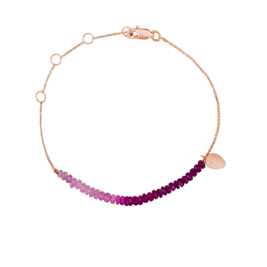 friendship gold white tennis sapphire eternity bracelet fiji vermeil rose