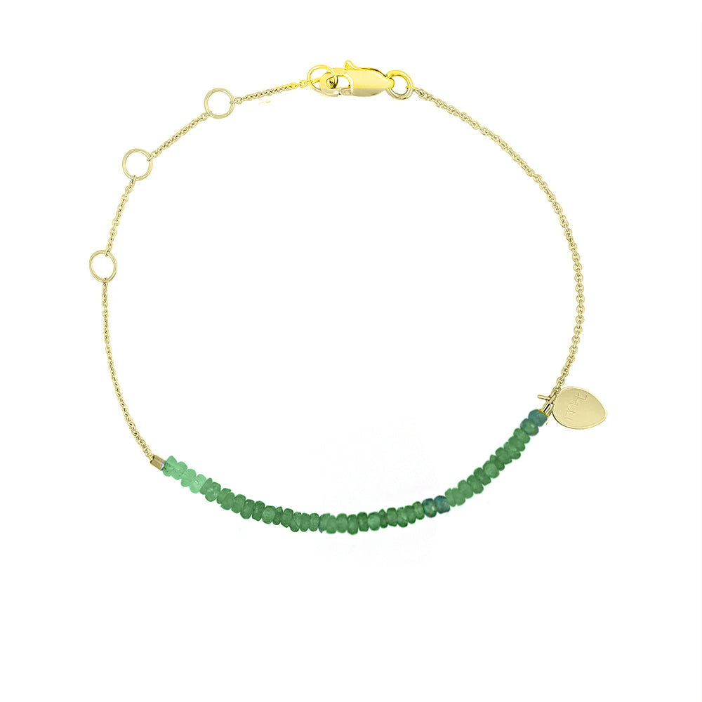 Signature Emerald Beaded Bracelet