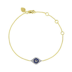 Evil Eye Bracelet Eye Shape Sapphires and Diamonds