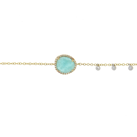 Amazonite Bracelet with Off-Centered Bezels