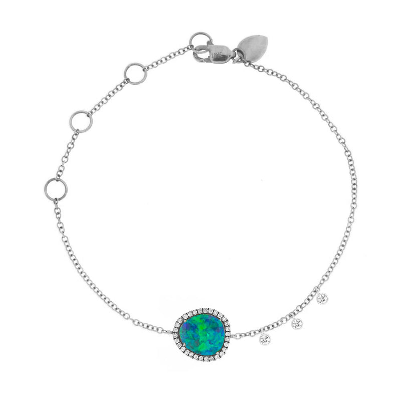 White Gold Signature Opal Bracelet