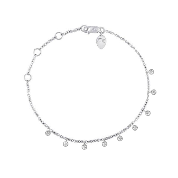 White Gold Bezel Diamond Bracelet