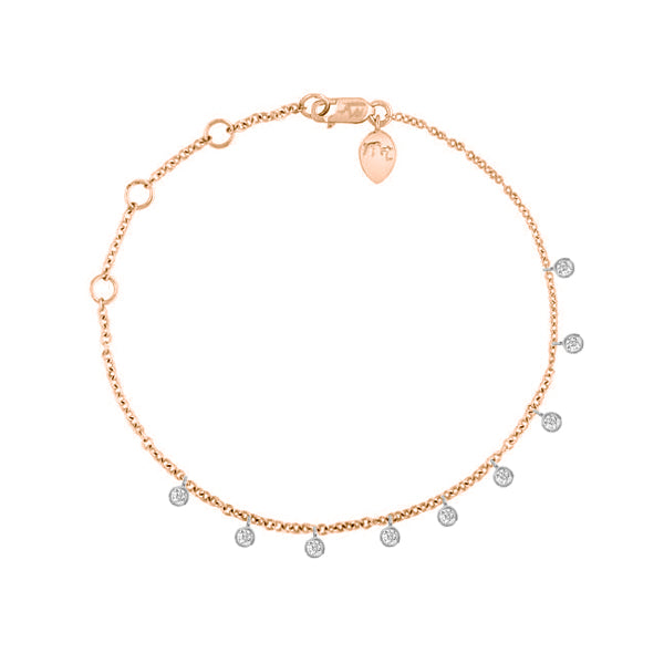 Rose Gold Bezel Diamond Bracelet