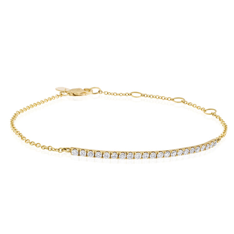 Two Tone Rose Gold & Yellow Pave Bracelet