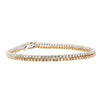 Rose Gold and White Gold Tennis Bracelet