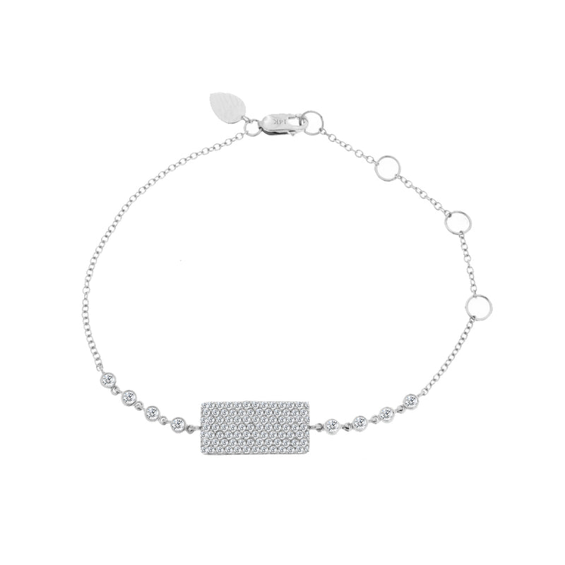 Ice Diamond Bar Bracelet