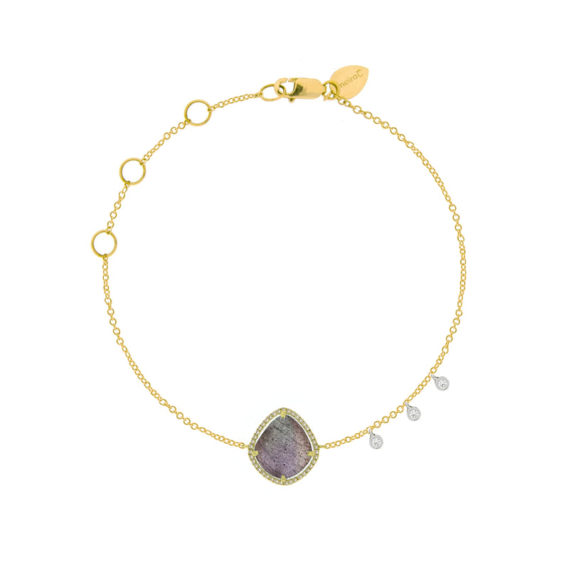 Labradorite Yellow Gold Bracelet