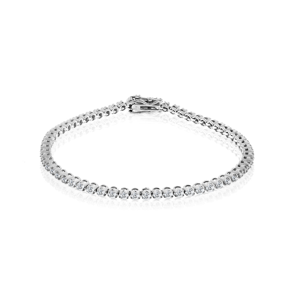 White Gold Round Tennis Bracelet