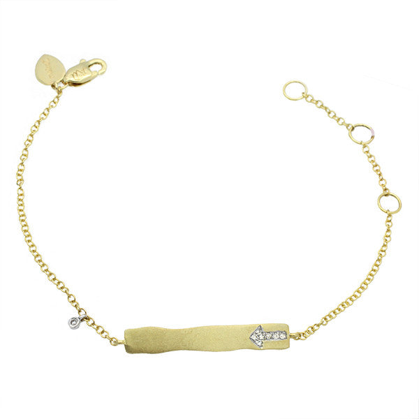 Meira T Children's Collection Yellow Gold and Diamond ID Bracelet