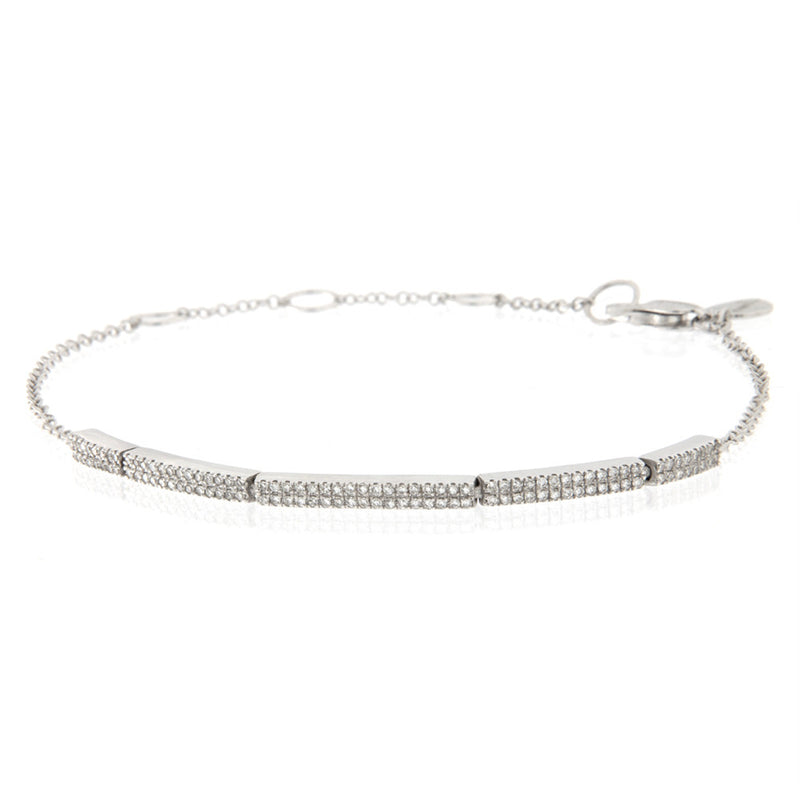 Diamond Bar Bracelet by Meira T