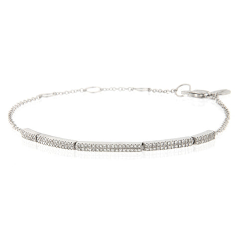 White Gold Diamond Bar Bracelet