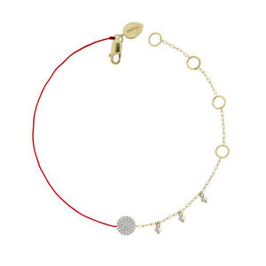 Meira T Asymetrical Diamond Disc Bracelet