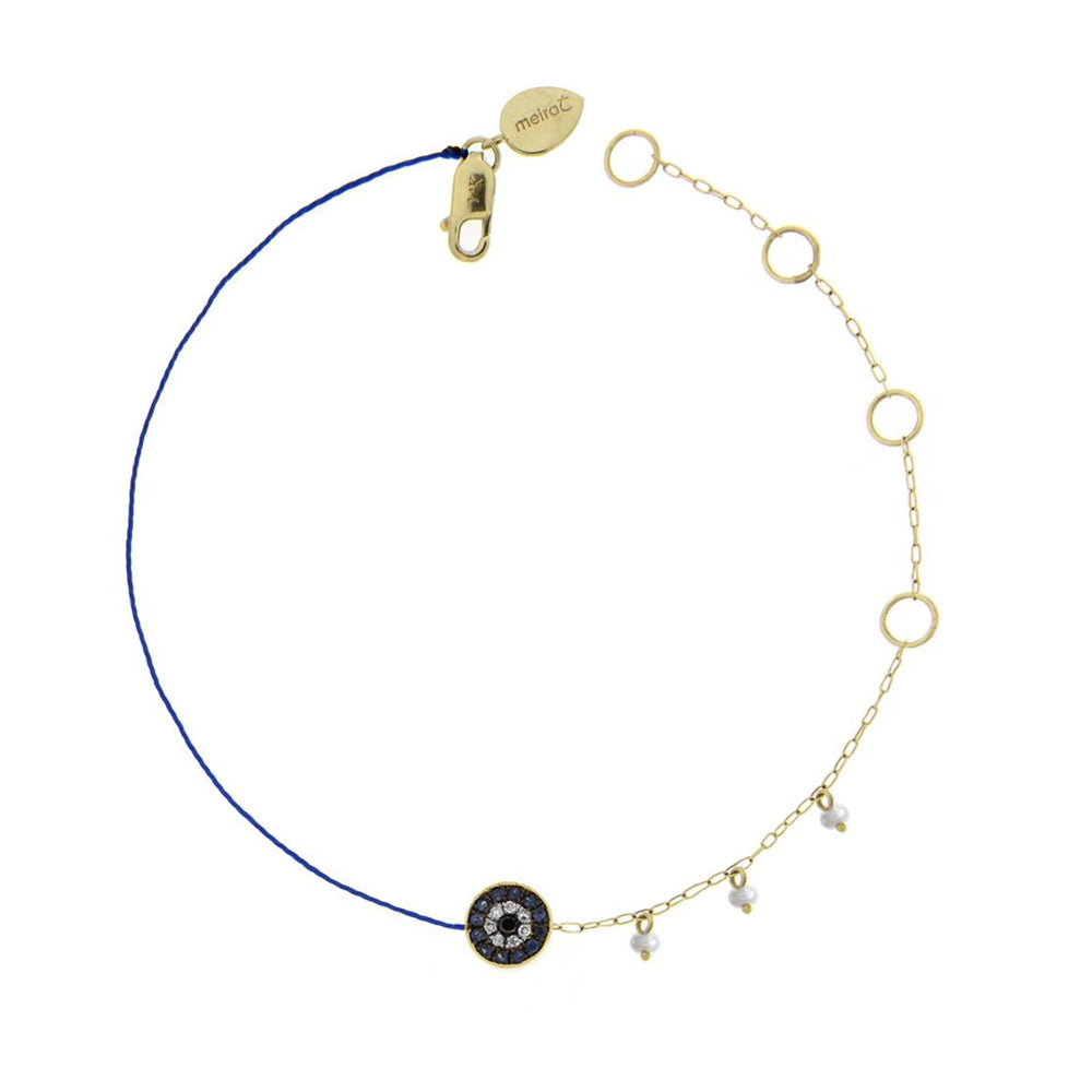 Evil Eye Diamond and Blue Sapphire Bracelet