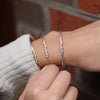 Rose Gold Diamond Bezel Cuff Bracelet
