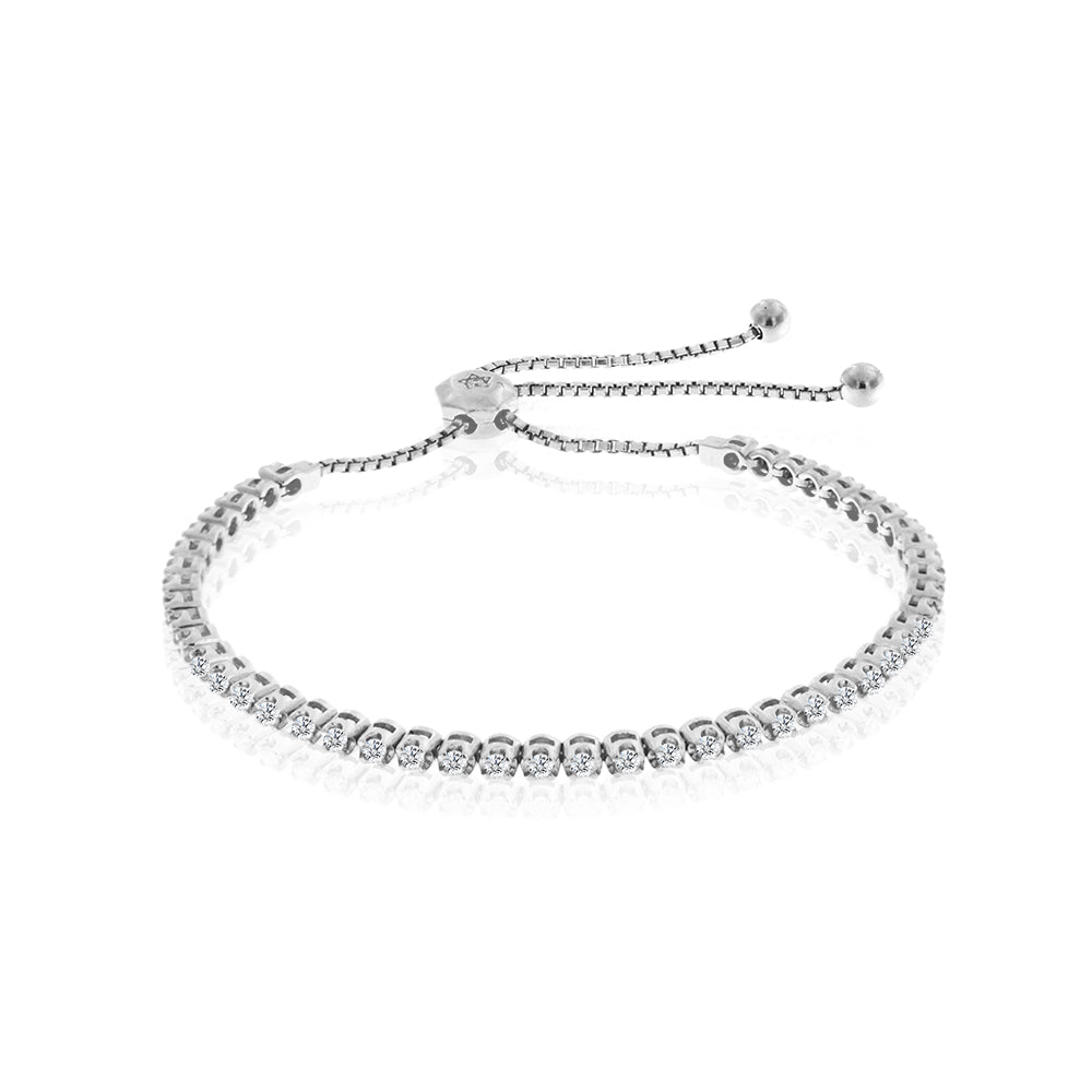 Diamond Tennis Bracelet with Tie